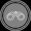 Determination icon grayscale